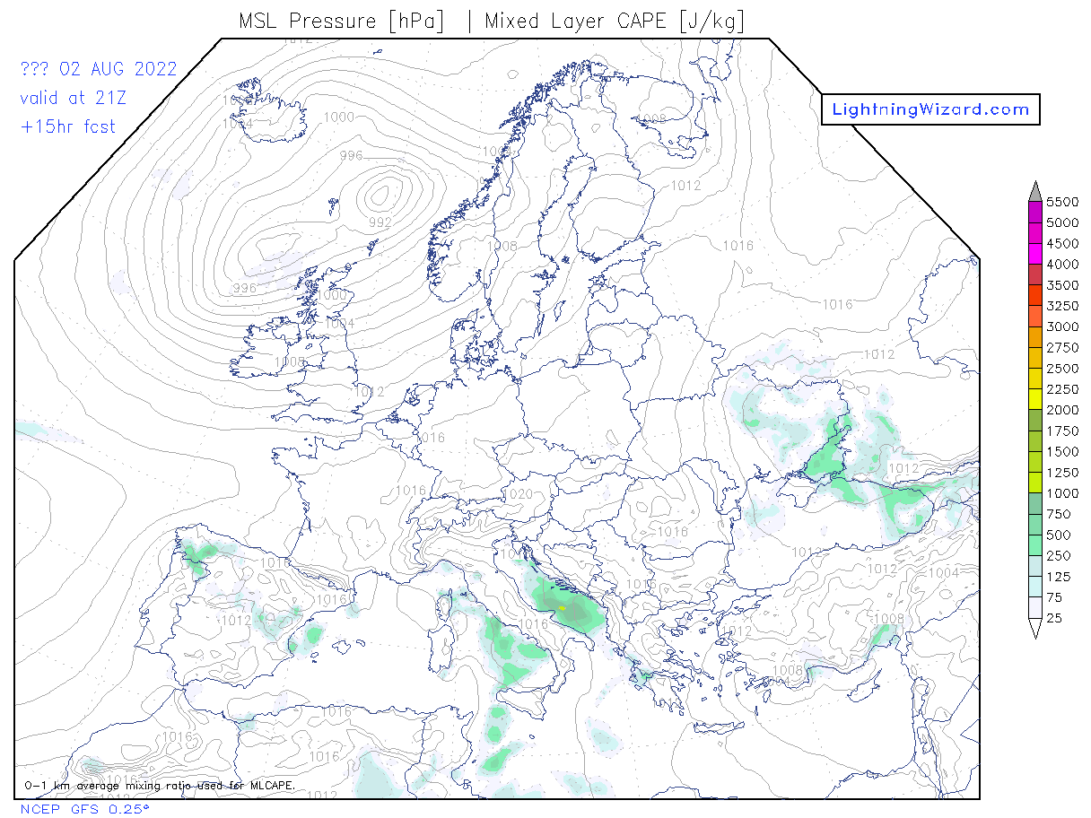 Convective Weather Maps by Lightning Wizard on