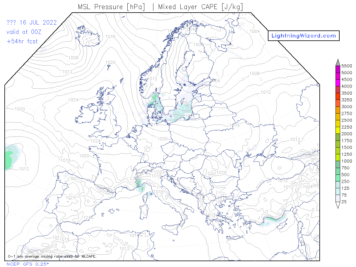 lightnings thunderstorm map evropa